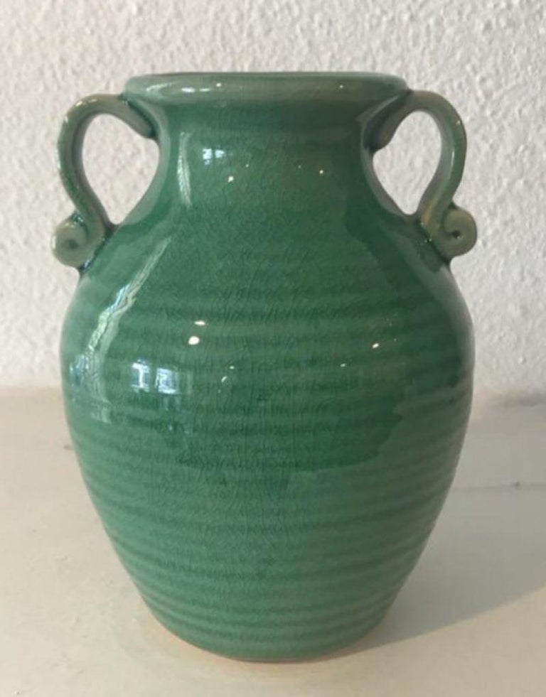 Arts and Crafts Midcentury Collection of Three Pottery Vases