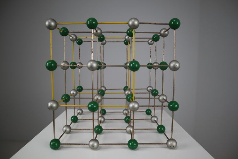 Mid-Century Modern Mid-Century Colorful Molecular Atomic Model from a School in Prague For Sale