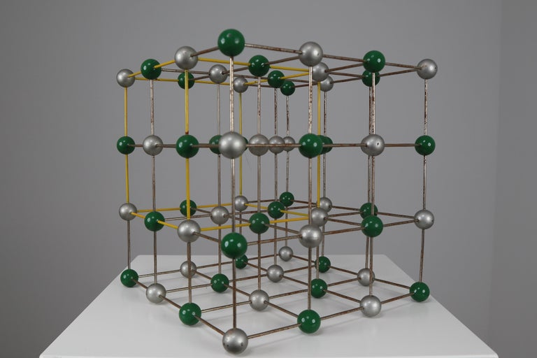 20th Century Mid-Century Colorful Molecular Atomic Model from a School in Prague For Sale