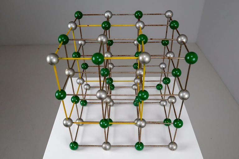 Metal Mid-Century Colorful Molecular Atomic Model from a School in Prague For Sale