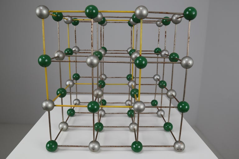 Mid-Century Colorful Molecular Atomic Model from a School in Prague For Sale 1