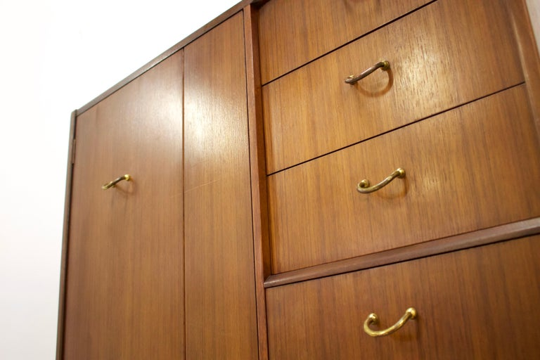 British Midcentury Compact Tallboy Wardrobe from G-Plan, 1960s For Sale