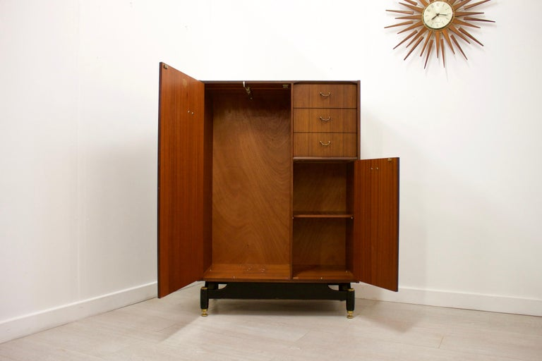 Woodwork Midcentury Compact Tallboy Wardrobe from G-Plan, 1960s For Sale