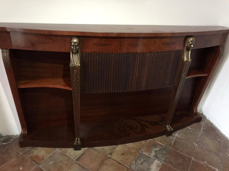 Mid Century Console Table Return from Egypt Style For Sale 2