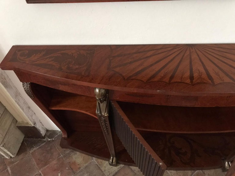Mid Century Console Table Return from Egypt Style In Good Condition For Sale In London, GB