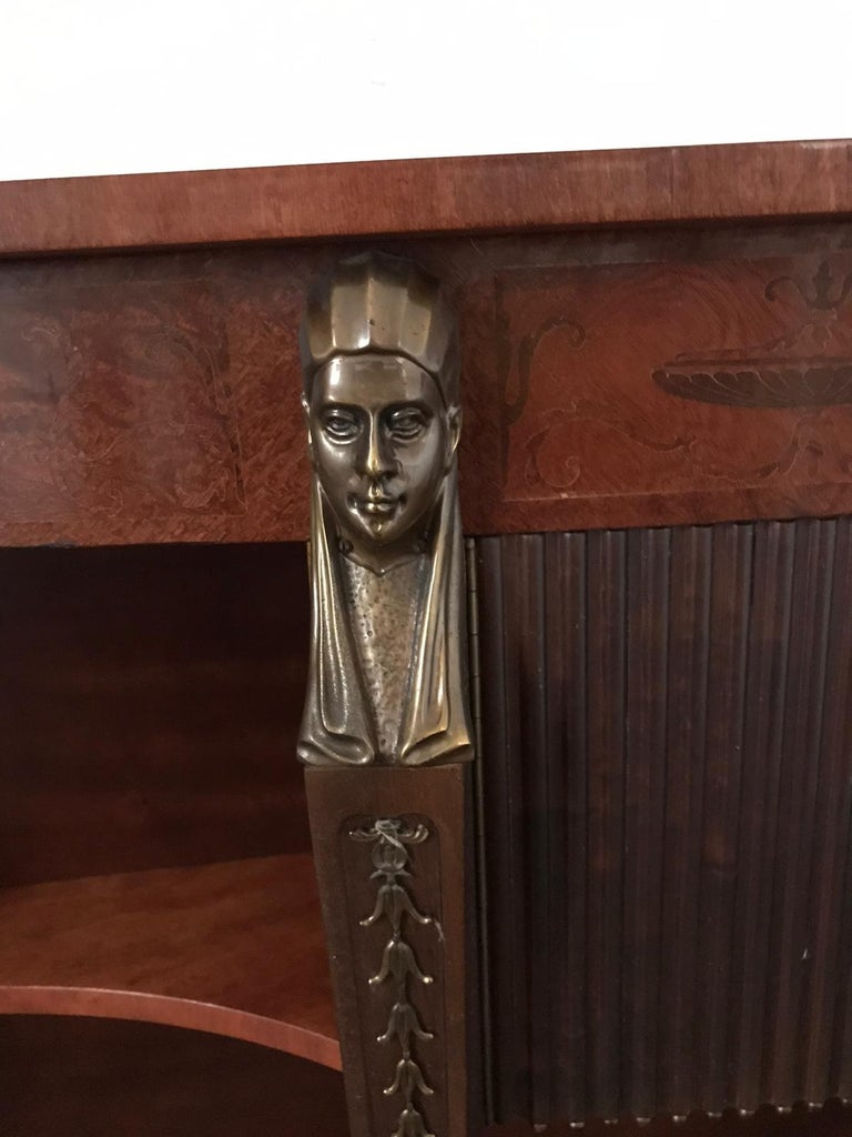 Mid-20th Century Mid Century Console Table Return from Egypt Style For Sale