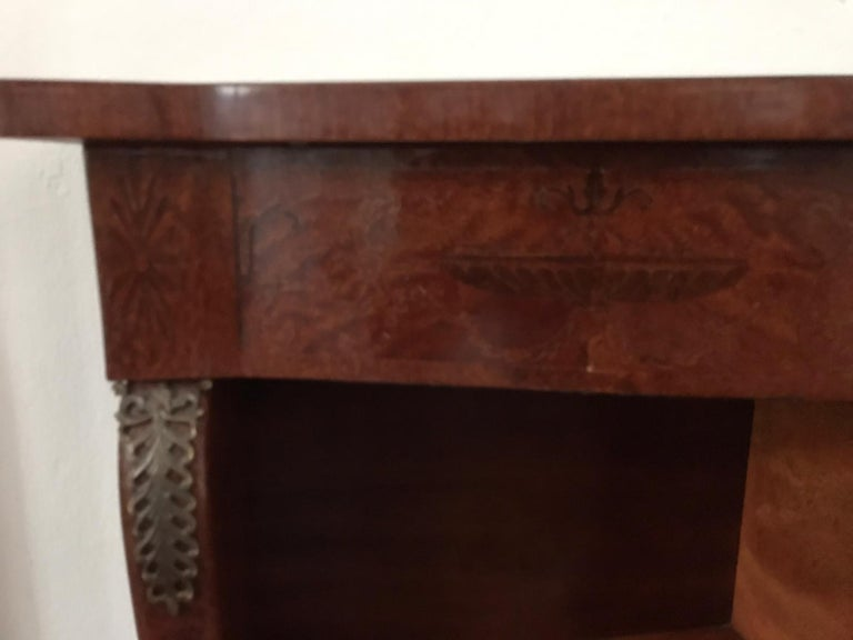 Bronze Mid Century Console Table Return from Egypt Style For Sale