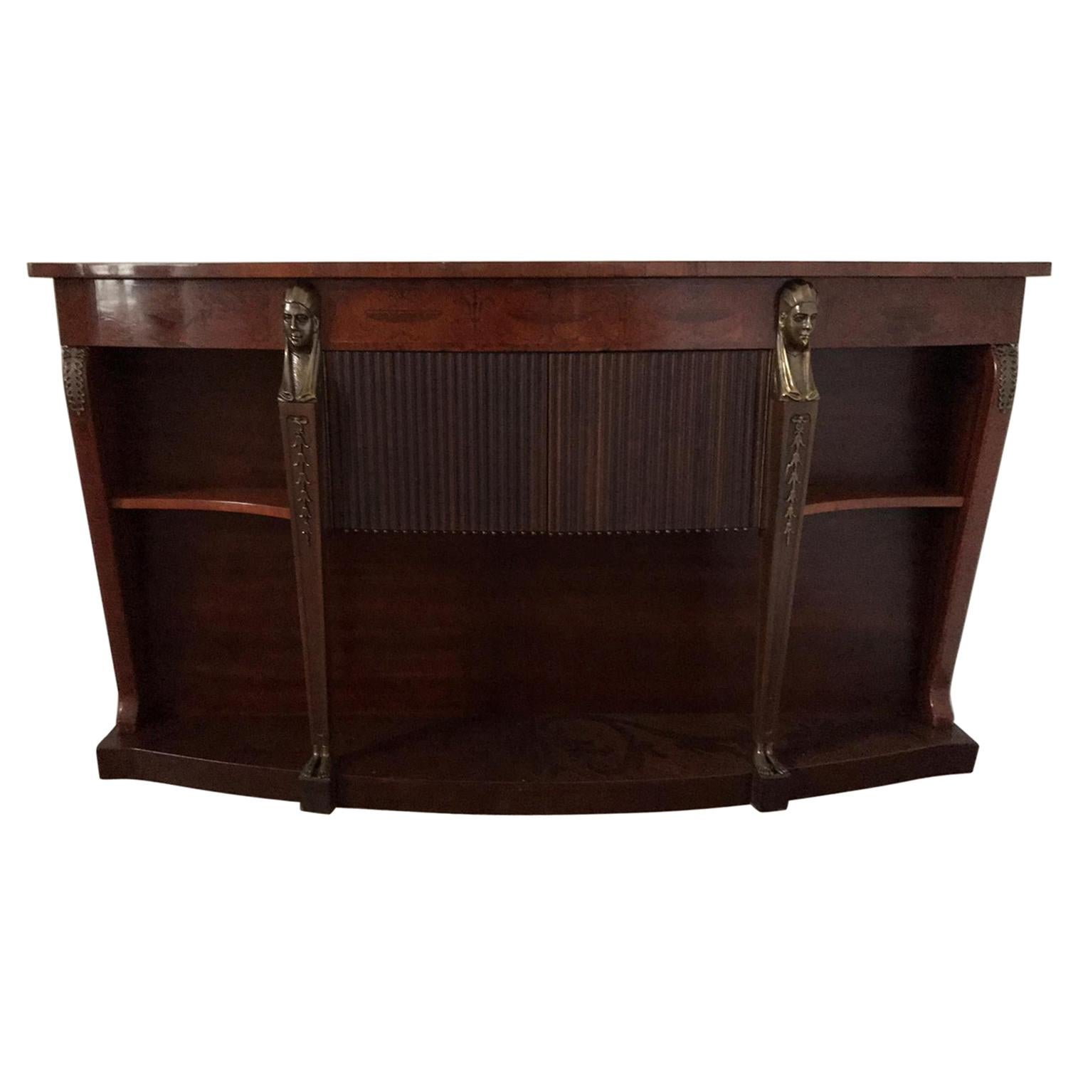 Mid Century Console Table Return from Egypt Style