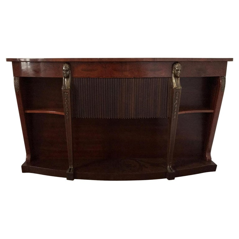 Mid Century Console Table Return from Egypt Style For Sale