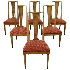 Mid Century Contempora Dining Chairs by William Clingman for J. L. Metz Set of 6