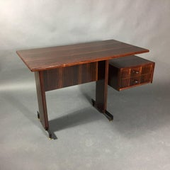 Mid-Century Continental Mahogany Dressing Table or Small Desk