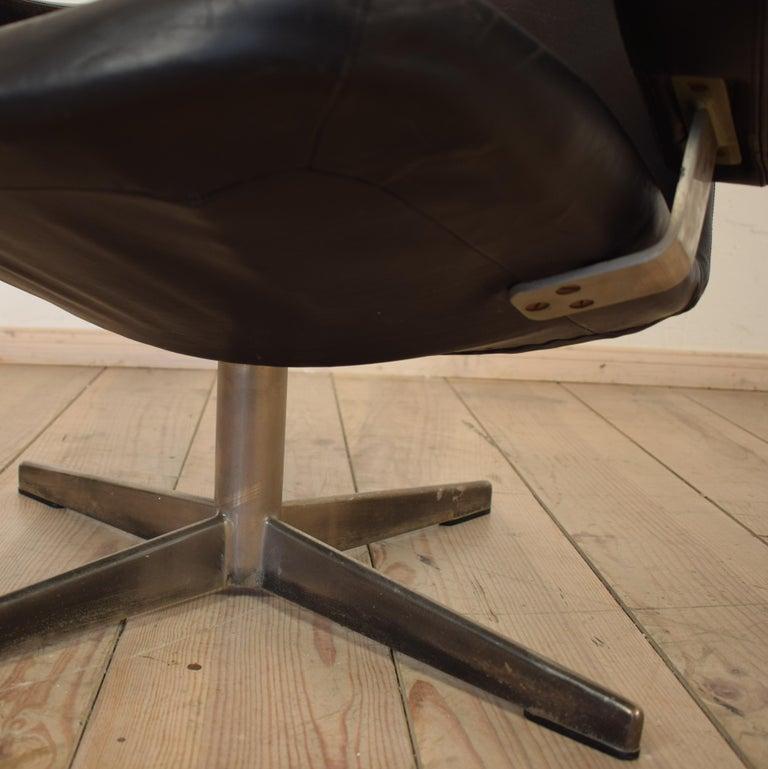 Midcentury Contourette Roto Armchair by Alf Svensson for DUX, 1960 For Sale 5