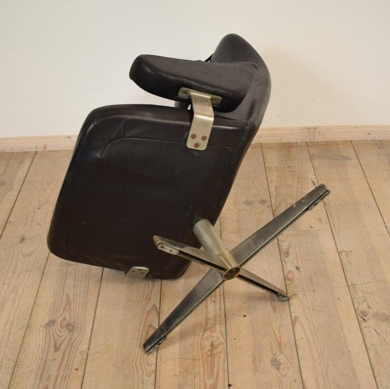 Midcentury Contourette Roto Armchair by Alf Svensson for DUX, 1960 For Sale 6