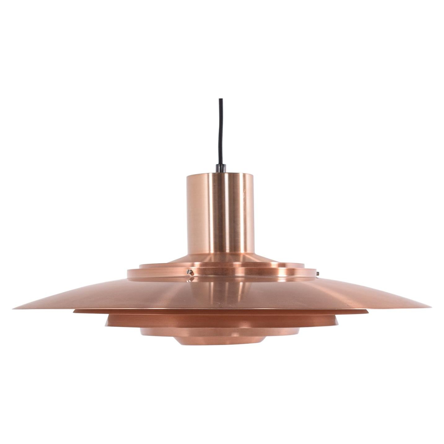 Mid Century Copper Ceiling Light by Kastholm & Fabricius for Nordisk Solar, 1964