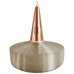 Midcentury Copper Scandinavian Pendant Light, 1970s