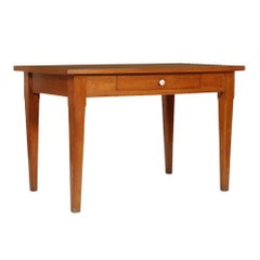 Midcentury Country Kitchen Table with Drawer in Solid Oak with Formica Top