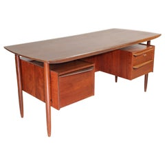 Midcentury Cowhorn Writing Desk by Tijsseling, 1950s