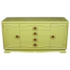 Midcentury Credenza Painted Green, circa 1960
