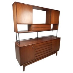Midcentury Credenza with Topper by Stanley