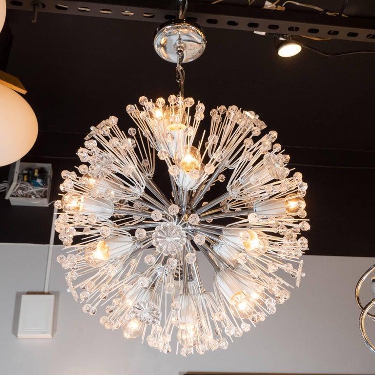 Mid-Century Modern Midcentury Crystal Sputnik Chandelier by Emil Stejnar for Rupert Nikoll For Sale