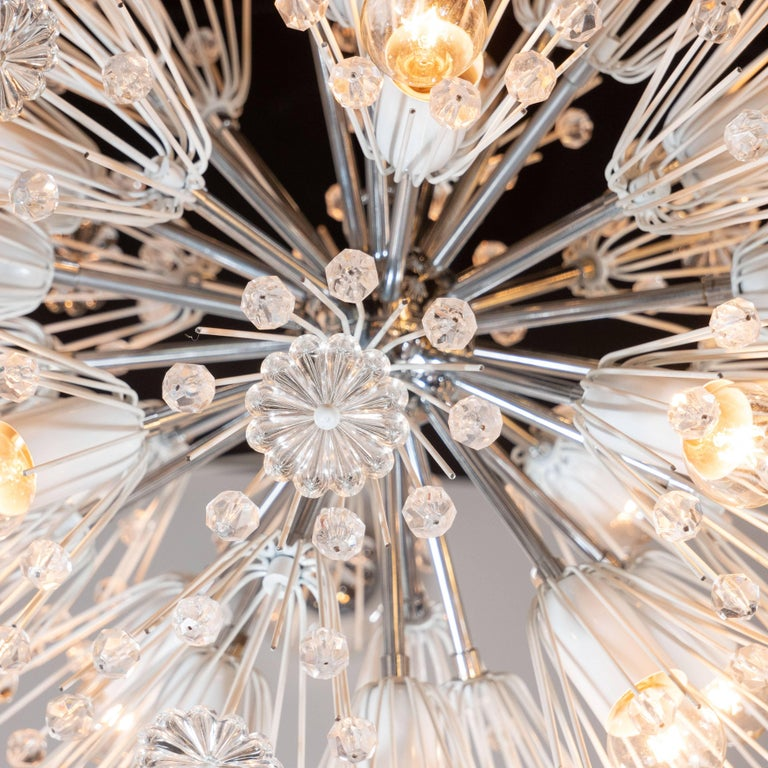 Austrian Midcentury Crystal Sputnik Chandelier by Emil Stejnar for Rupert Nikoll For Sale