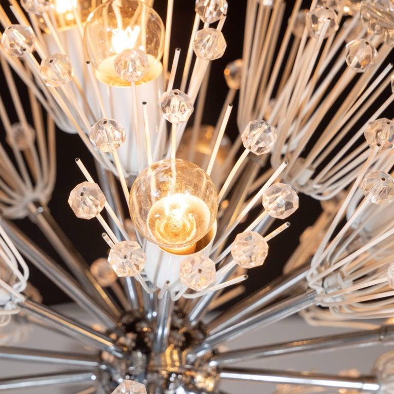 Mid-20th Century Midcentury Crystal Sputnik Chandelier by Emil Stejnar for Rupert Nikoll For Sale