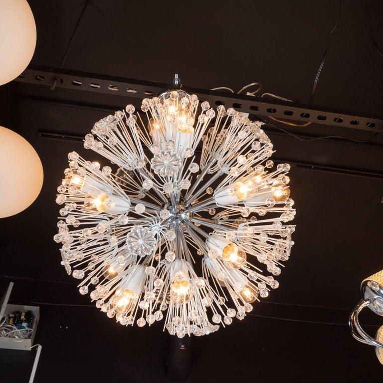Midcentury Crystal Sputnik Chandelier by Emil Stejnar for Rupert Nikoll For Sale 1