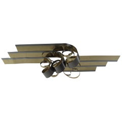 Midcentury Curtis Jere Metal Ribbon Wall Art