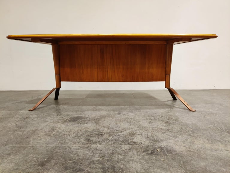 Mid-Century Modern Midcentury Curved Coffee Table, 1960s For Sale