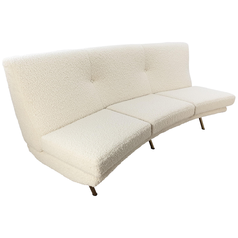 Mid Century Curved Triennale Sofa by Marco Zanuso for Arflex, Italy, 1950s