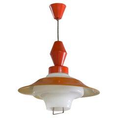 Midcentury Czech Single Pedant Lamp, 1960s