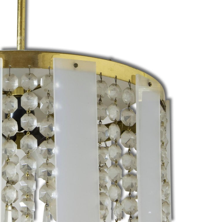 Midcentury Czechoslovak Crystal Chandeliers, 1970s, Set of 2 In Good Condition For Sale In Prague 8, CZ