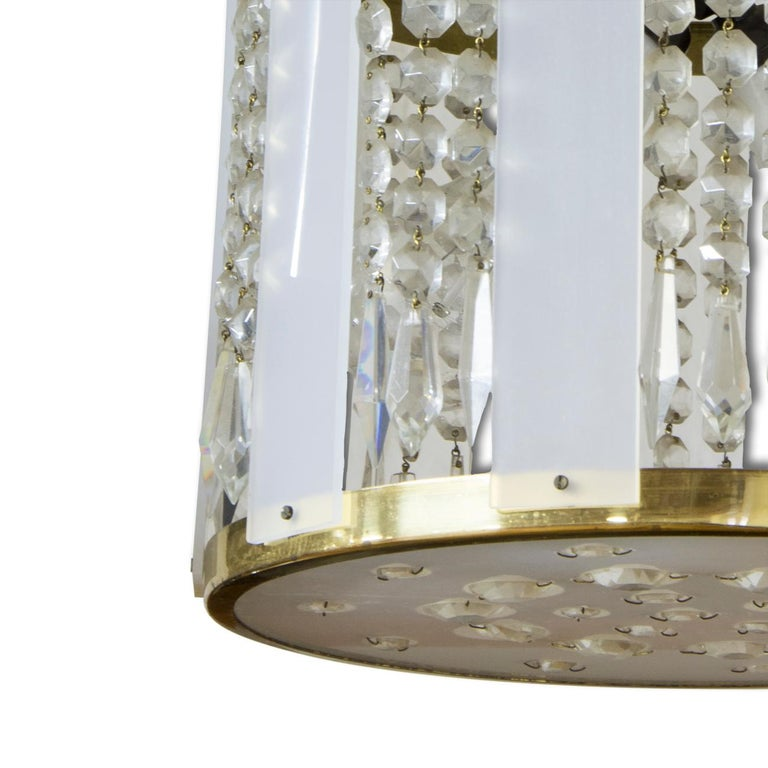 Late 20th Century Midcentury Czechoslovak Crystal Chandeliers, 1970s, Set of 2 For Sale