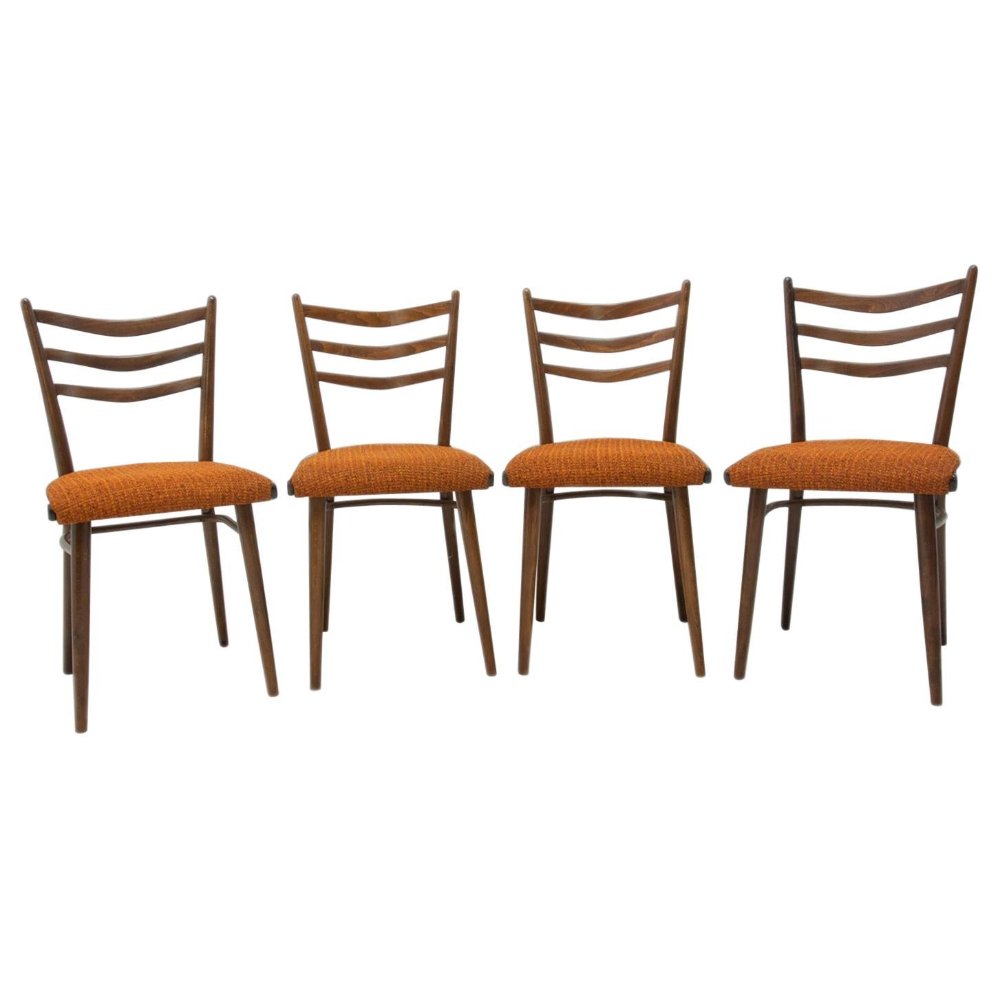 Midcentury Czechoslovak Dining Chairs, 1960s, Set of Four
