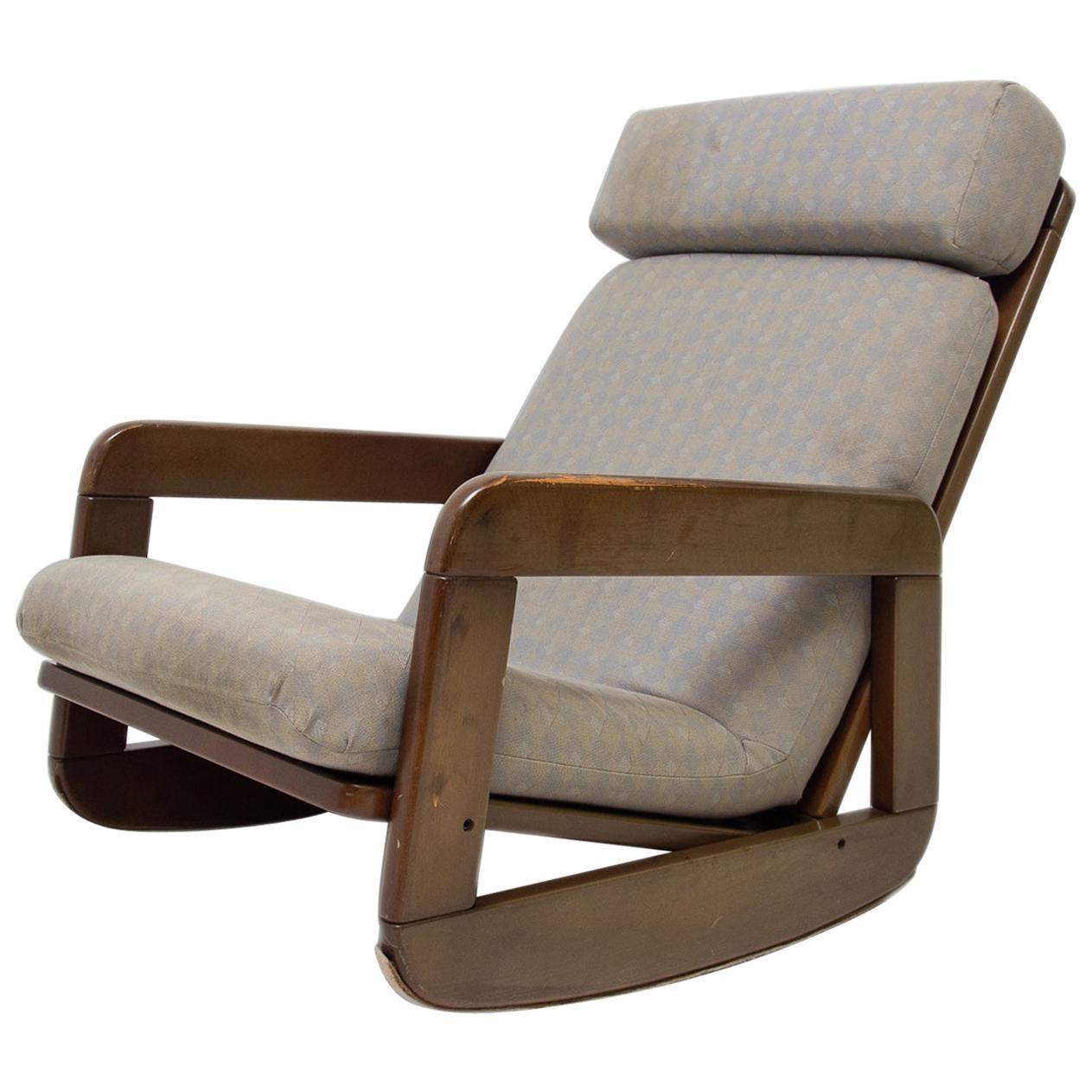 Midcentury Czechoslovak Rocking Chair, 1960s
