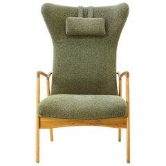 Midcentury Danish Wing Chair, 1960s