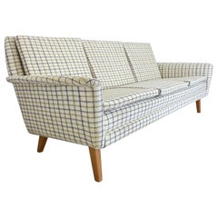 Midcentury Danish 3-Seat Sofa by Folke Ohlsson for Fritz Hansen, 1960s