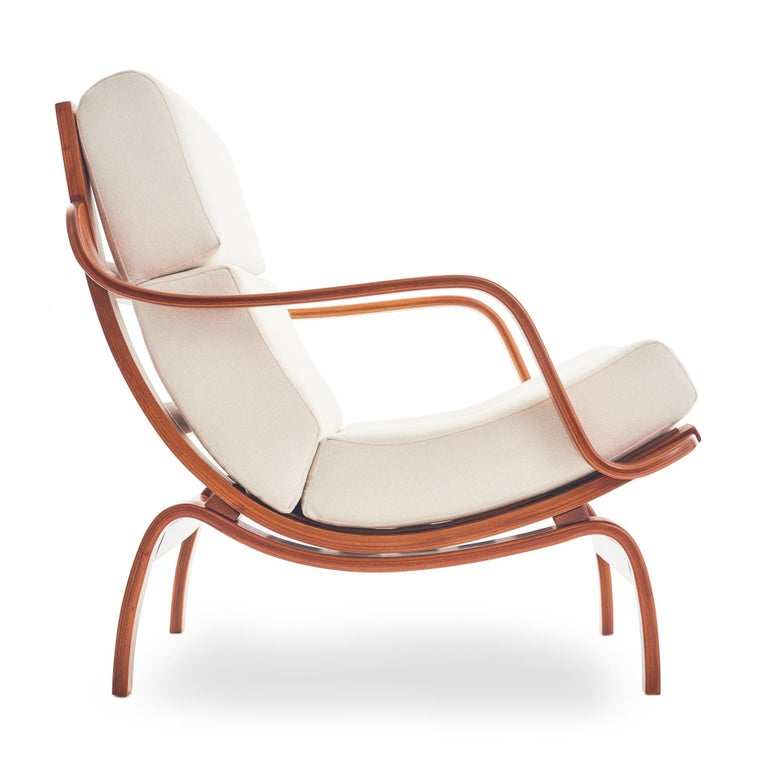Mid-Century Modern Midcentury Danish Bentwood Lounge Chair For Sale