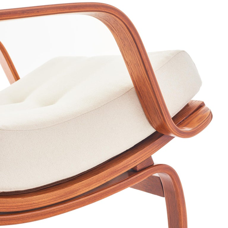 Midcentury Danish Bentwood Lounge Chair For Sale 1