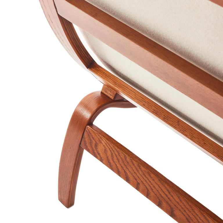 Midcentury Danish Bentwood Lounge Chair For Sale 2