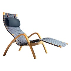 Midcentury Danish Chaise Lounger Birch Bentwood