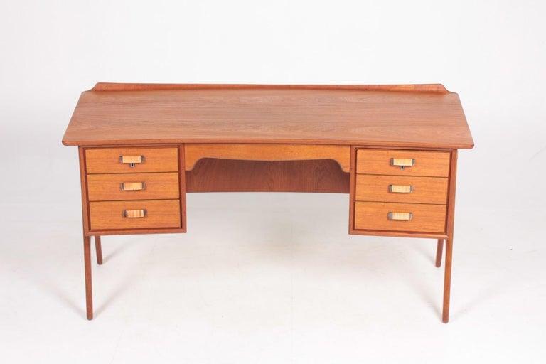 Scandinavian Modern Midcentury Danish Design Desk in Teak by Svend Aage Madsen, 1950s For Sale