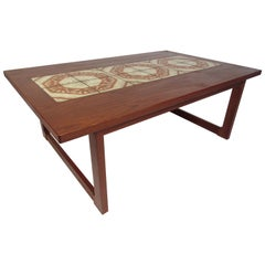 Midcentury Danish Dyrlund Tile-Top Coffee Table