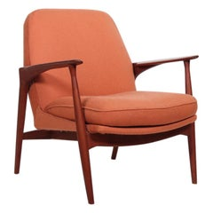 Mid-Century Danish Easy Chair by Ib Kofod-Larsen in Teak