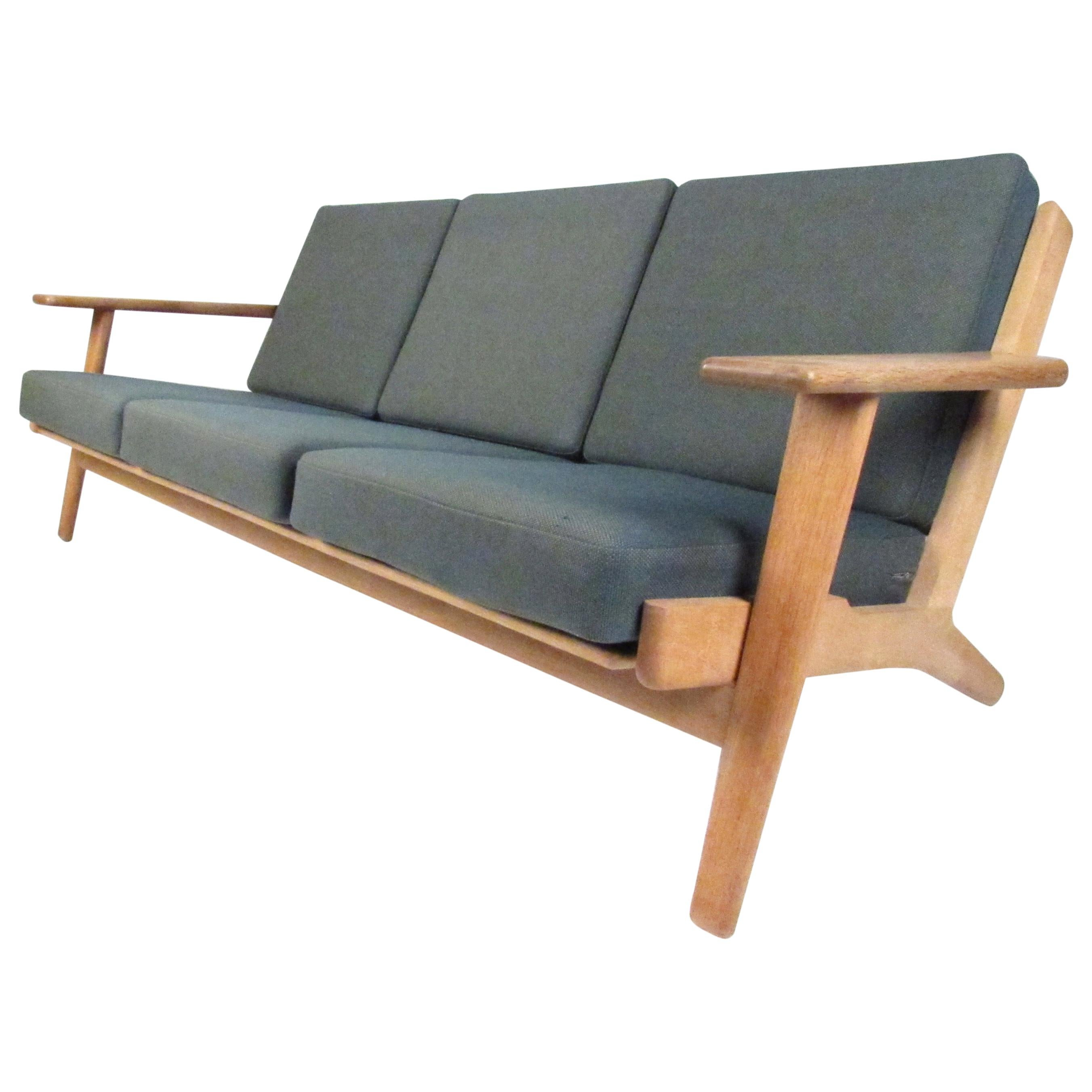 Midcentury Danish GE 290 Sofa by Hans Wegner for GETAMA