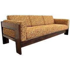Midcentury Danish Modern 'Bastiano' Tobia Scarpa Style Rosewood Sofa