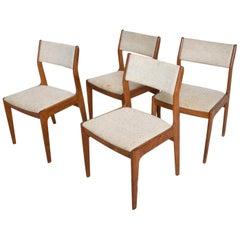 Midcentury Danish Modern Benny Linden Teak Dining Chairs, Set of 4