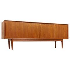 Midcentury Danish Modern Bernhard Pedersen & Son Sideboard Credenza Buffet