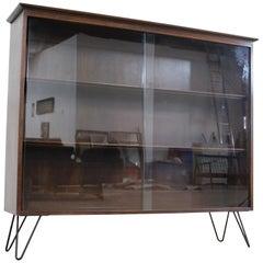 Mid Century Danish Modern Bookcase on Hairpin Legs by Willet