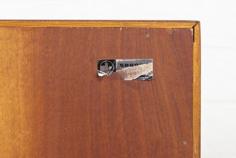 Midcentury Danish Modern Borge Mogensen Teak Wood Drop Front Secretary Desk For Sale 4